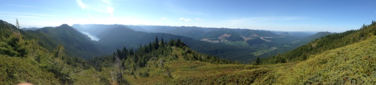 Panorama Point at Mount Muller with Lake Crescent in the distance.