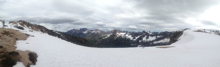 There's a trail here somewhere at the North Cascades Cutthroat Pass.
