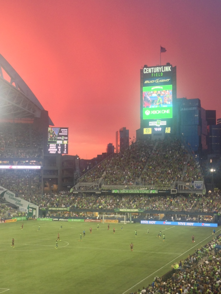 Sounders beat the Timbers 2-0 in a Cascadia derby at CenturyLink Field in Seattle!