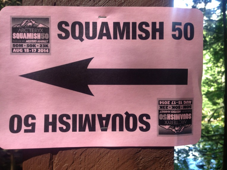 Squamish 50 trail signage spotting.