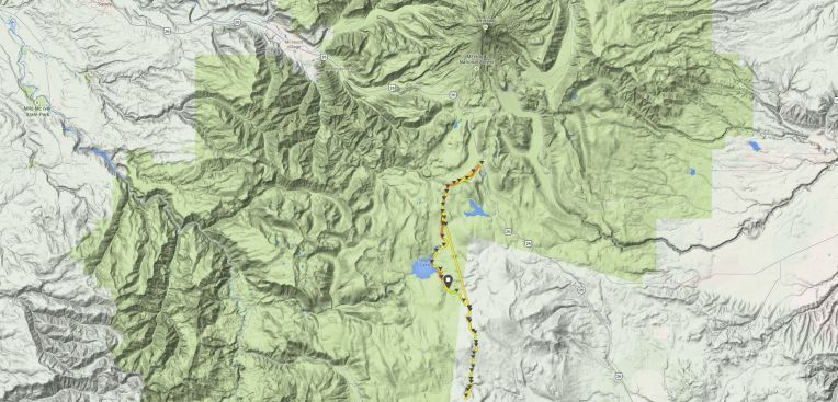 Mt Hood to the north. The GPS bugged out for a few miles or I literally flew over that section of the course.