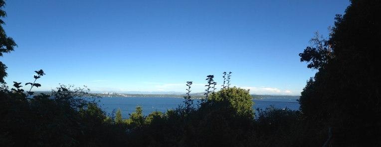 Lake Washington and Bellevue.