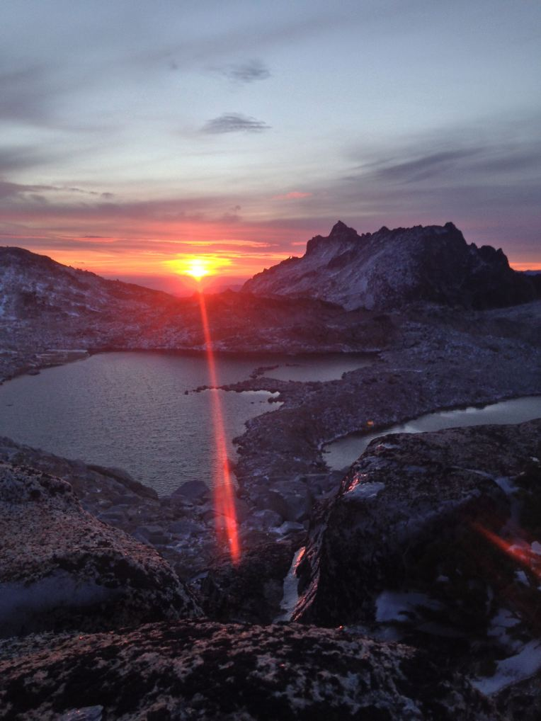 Sunrise at Lake Vivianne in The Enchantments.