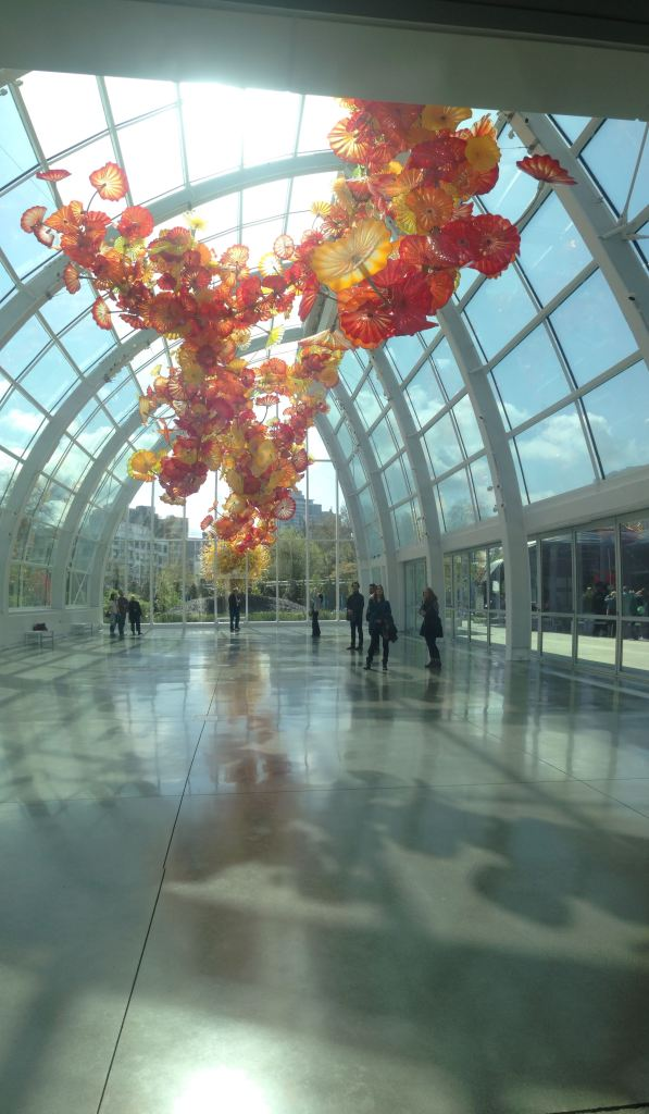 Chihuly Garden of Glass - Glasshouse with (shockingly) a Dale Chihuly sculpture.