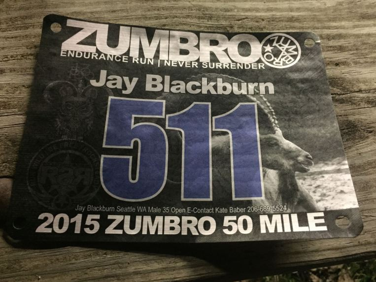 That's my bib number.