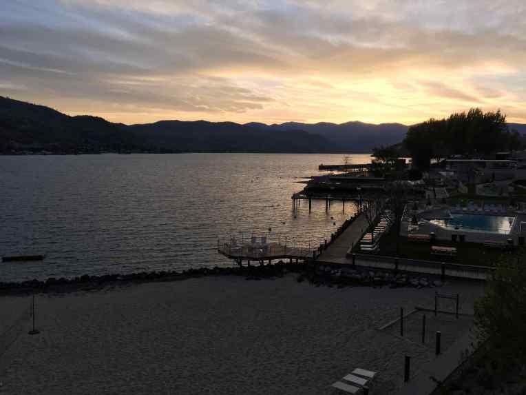 Sunset overLake Chelan, Washington.