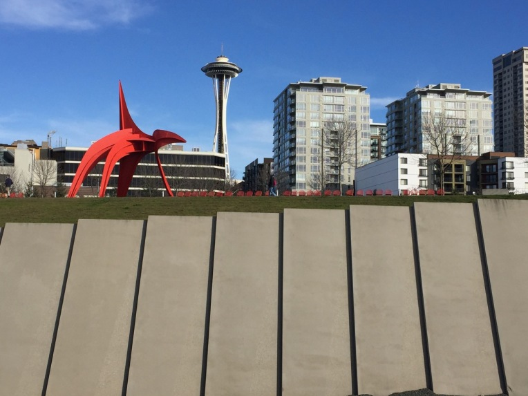 """Eagle"" - Alexander Calder. 1971. Space Needle - John Graham. World's Fair. 1962."