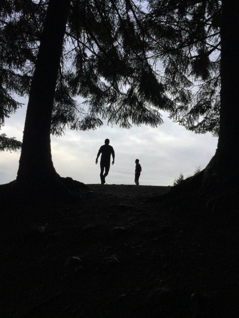 Poo Poo Point silhouettes. Photo Credit: Nate Copley
