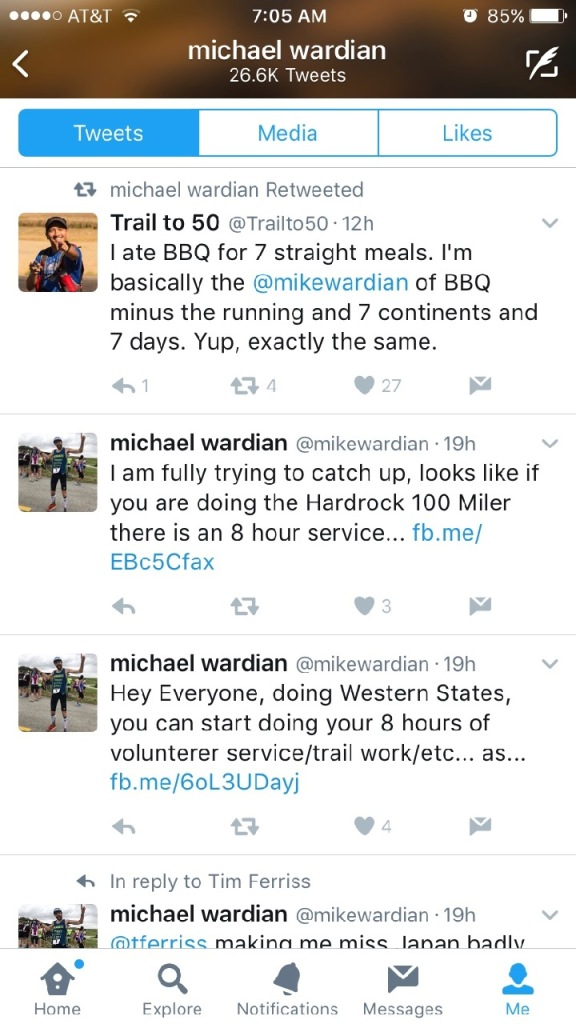 Oh yeah, by the way, Mike Wardian is a vegetarian.